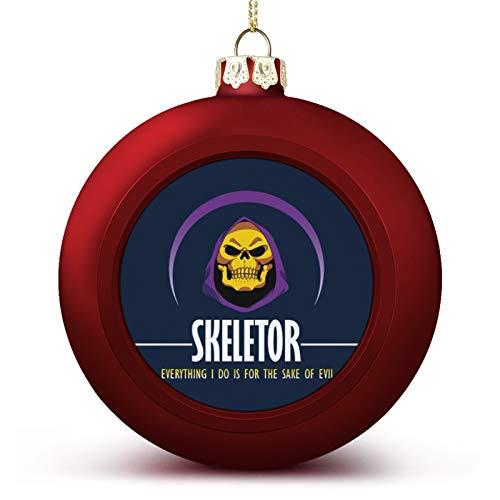He Man Skeletor Face Everything I Do Is For The Sake Of Evil Custom Christmas ball ornaments Beautifully decorated Christmas ball gadgets Perfect hanging ball for holiday wedding party decoration