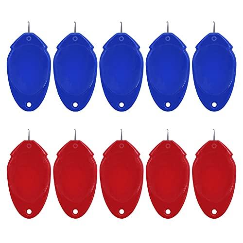 손바느질용 바늘 스레더 작은 눈 니들을 위한 간단한 재봉틀 바늘 스레더 딜더 니들 스레더 플라스틱 와이어 루프 DIY 헬퍼 자동 크래프팅 바늘 스레더 도구 세트(10PCS)
