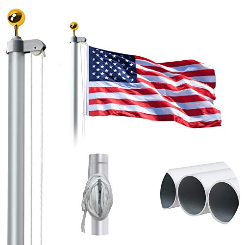WeValor 20FT Sectional Flag Pole Kit, Extra Thick...