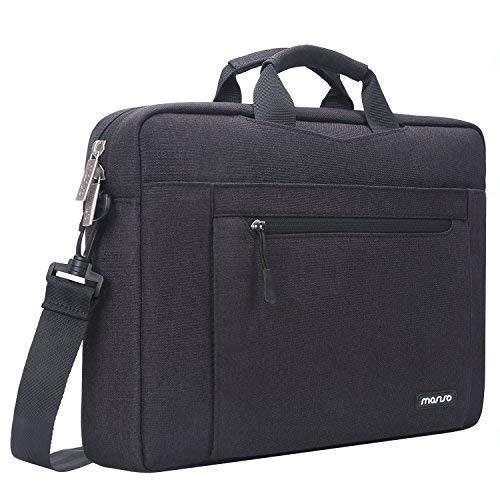 MOSISO Bolso de Hombro Compatible con 13-13.3 Pulgadas MacBook Air/MacBook Pro Retina/2019 Surface Laptop 3/Book 2, Funda Protectora Blanda con Interior Resistente a Golpes de Espuma Capa, Negro