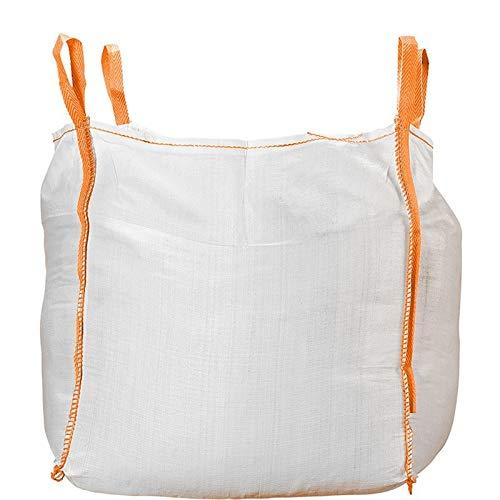 Big Bag für 1 Tonne | Big Bags für Bauschutt 90x90x90 cm | Traglast bis zu 1000kg | 10er-Pack