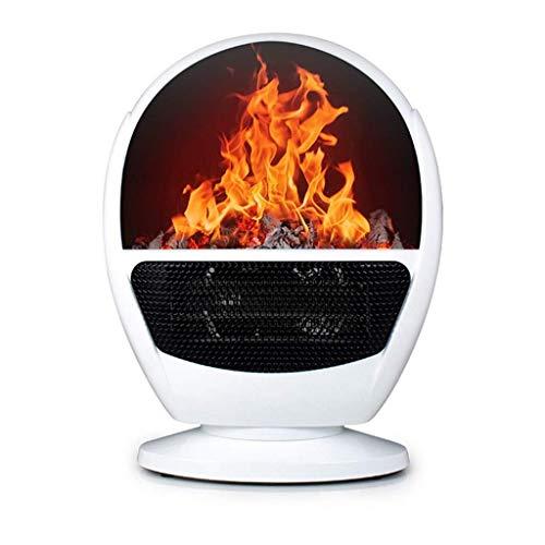 KJRJR Space Heater - Elektro-Kamin Heizung mit 3D-Flammeneffekt, Überhitzungsschutz, Freistehende Kamin Herd Heizung