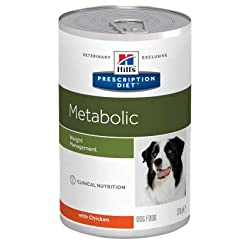 Hill's Prescription Diet Canine Metabolic Weight Management with Chicken Saver Pack 24 x 370g is a balanced wet food for obese dogs. Developed by vets and nutritionists Helps to burn excess fat Important antioxidants Help to keep your dog healthy No ...