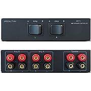2-Way Amp Amplifier Receiver to 1 One Pair of Speakers Selector Switch Switcher Splitter Combiner