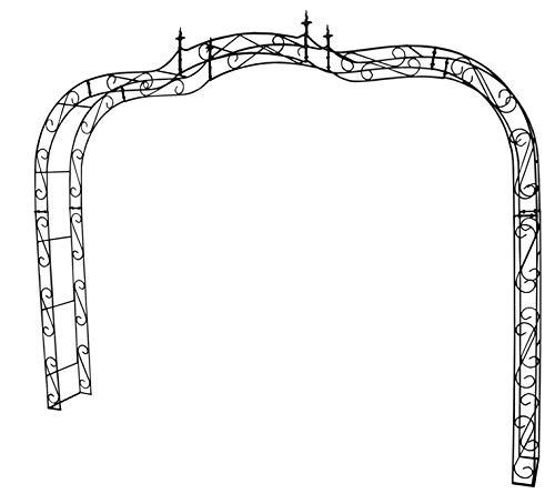 KUHEIGA Extrem breiter Rosenbogen 10mm Massiveisen Breite: 335cm Rost Rankbogen für Auffahrten o.ä. - aus Metall