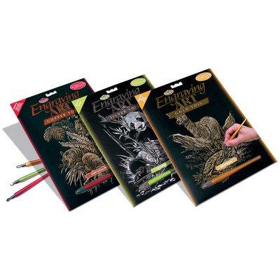 Royal & Langnickel Bulk Buy Royal Brush Silver Foil Engraving Art Kit 8 inch x 10 inch Panda SILF-12 (3-Pack)