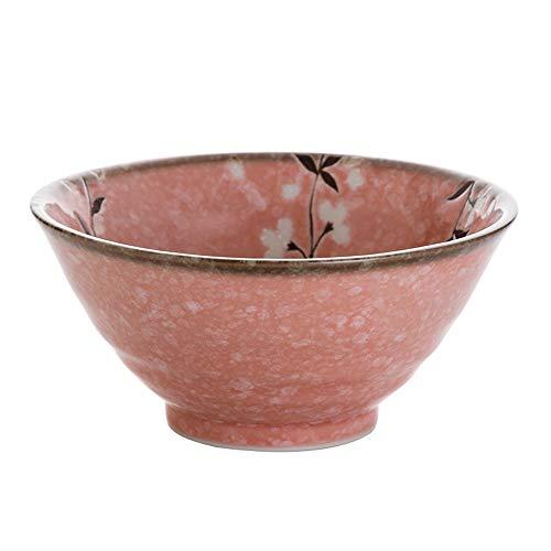 RKY Bol- Bol en céramique japonaise maison vague bol seau bol ménage bol de riz bouillie bol-7 styles en option /-/ (Couleur : F)