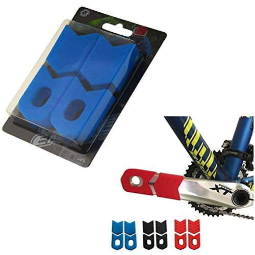 SASKATE Protector de manivela de bicicleta MTB para bicicleta de montaña, 4 unidades por juego