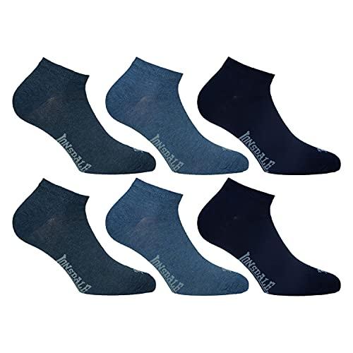 Lonsdale Sneaker 6 Paia di calzini alla caviglia, ottima qualità di cotone (Blu Mix, 43-46)