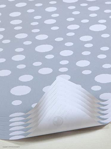 Mooi 'Sneeuw' Ontwerp Kerstcadeau Wrap/Xmas inpakpapier van Emily Burningham 6 Sheets