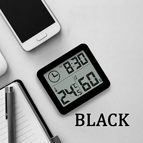 JSFDSUCM Thermomètre Température/hygromètre Multifonctionnel Horloge électronique Automatique de Surveillance de la température et de l'humidité Grand écran LCD