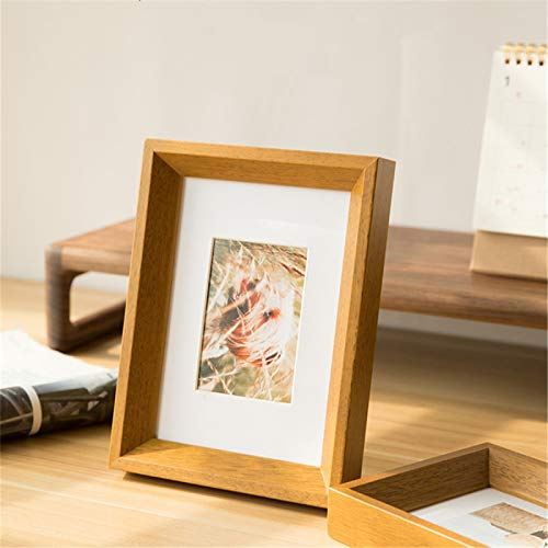 KAIHUI Marco De Fotos De Madera Maciza Juego De Escritorio Decoraciones Colgante De Pared Foto De La Pared Decoración De La Sala De Estar Marco De Espejo Multicolor Opcional 6x8 Inch(15.2x20.3cm)