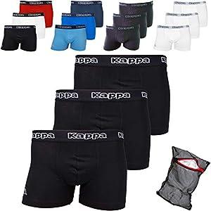 Kappa ZiATEC Edition - Calzoncillos tipo bóxer para hombre, S-XXXXXL, con práctica malla de lavado, paquetes de 3, 6 y 9 unidades, ropa interior para hombre 6 x negro XXXXXL