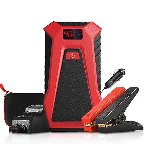 Price comparison product image (UK Shipping) Portable Car Battery Starter,  1200A / 12000mAh Peak Car Jump Starter Power Pack with 12V USB Port DC Port LED Light,  Outdoor Power Tool Charger Booster Up to 7.0L Gas or 5.5L Diesel Engine