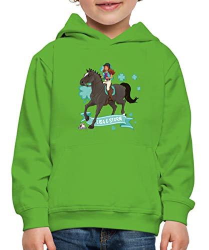Schleich Horse Club Lisa & Storm reiten aus Kinder Premium Hoodie, 122-128, Hellgrün