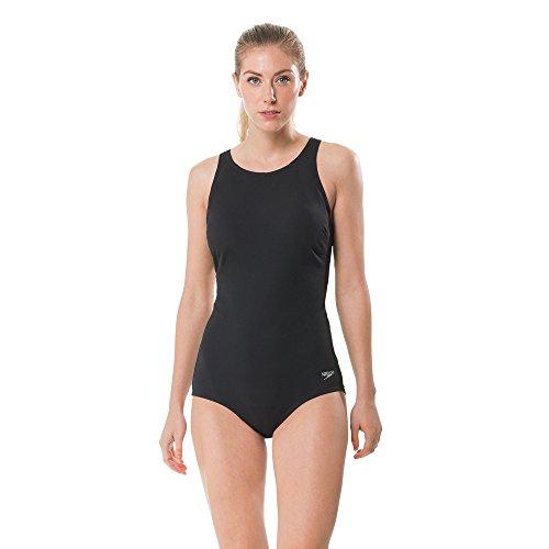 Speedo Women's High Neck Women'S Swimsuit, Speedo Black, Size 10