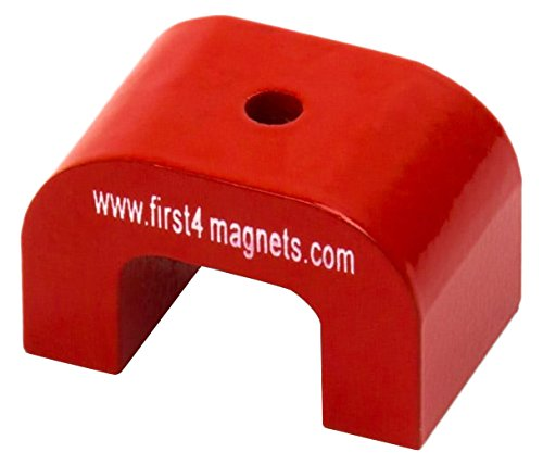 First4magnets F4M811-1 kleiner roter AlNiCo Hufeisenmagnet-4,5kg Anziehungskraft (30 x 20 x 20mm) (1 St-Packung)