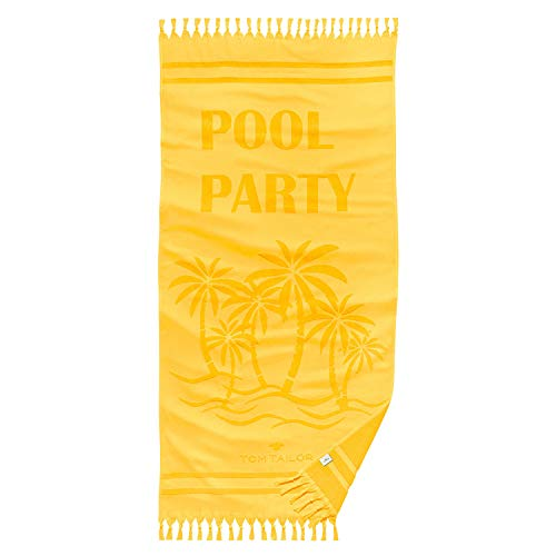 TOM TAILOR Hamam Strandtuch Pool Party Yellow, ca. 90x180 cm