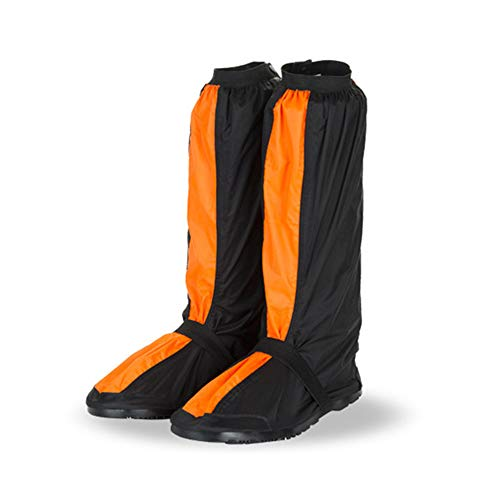 I will take action now Fahrradschuh-Überzug, wasserdicht, reflektierend, winddicht, Fahrradschloss, Regen-/Schneeschuhschutz, Fußgamaschen (Farbe: Orange, Größe: Medium)