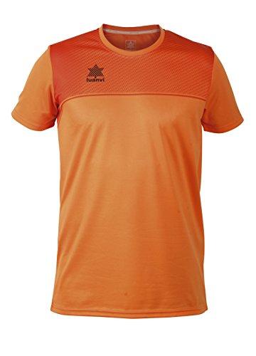 Luanvi Apolo - Camiseta de Manga Corta Básica de Deporte, Naranja, XL