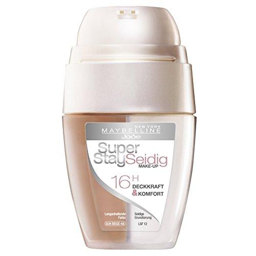 Maybelline New York Super Stay Seidig Make-Up Sun Beige 48 / Schminke in einem Hautfarben-Ton mit Zwei-Kammern-Technologie, für eine langanhaltende und perfekte Abdeckung, 1 x 30 ml