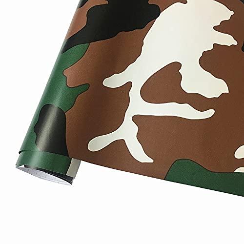 50cmx152cm camuflaje vinilo pvc etiqueta engomada de carro envoltura ejército militar verde camuflaje calcomanía lámina para auto envoltura de motocicleta ZSSGSHR (Color Name : C color)