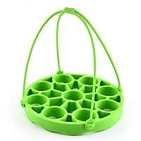 Botreelife多機能シリコーンポータブルスチーマーシリコーンドレンラックバスケットキッチン製品創造的で実用的な収納ラックホーム、グリーン