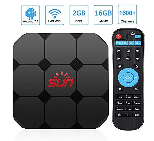 IPTV Box, Récepteur IPTV avec 1600 Canaux en Direct du Royaume-Uni France Italie Allemagne Espagne Portugal Américain Asiatique...