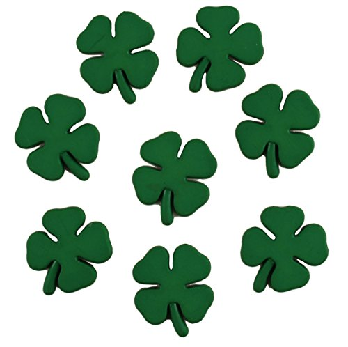 Buttons Galore Craft & Sewing Buttons - Shamrocks - 3 Packs (24 Buttons)
