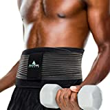 Lower Back Brace for Walking Running Exercise - Dual Medical Lumbar Pads Relief...