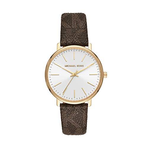 Michael Kors Damen Analog Quarz Uhr mit PVC Armband MK2857