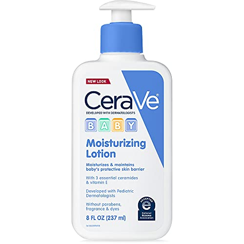 CeraVe Baby Lotion | Gentle Baby Skin Care with Hyaluronic Acid and Ceramides | Paraben and Fragrance Free | 8 Ounce | Packaging May Vary