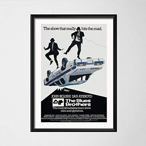 lubenwei The Blues Brothers 1980 Retro Vintage Movie Music Band Art Painting Vintage Canvas Poster Wall Home Decor 40x50cm No frame AW-436