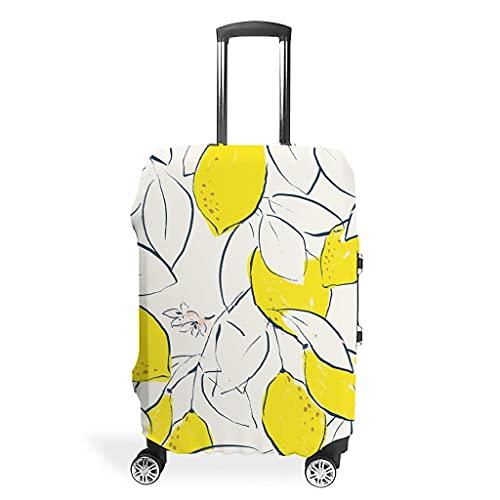 Funda protectora para maleta, diseño de hojas de limón, color amarillo