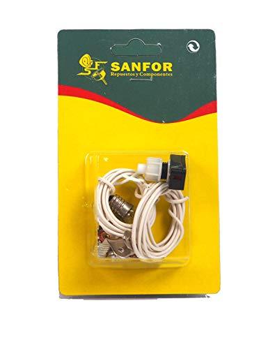 Blíster kit eléctrico   Para manualidades   Paquete de 1 unidad   Plateado/blanco  Talla única ⭐
