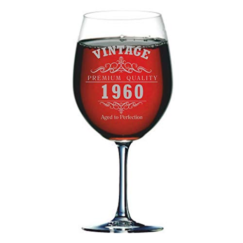 Copa de vino gigante vintage de 1960 cumpleaños 60