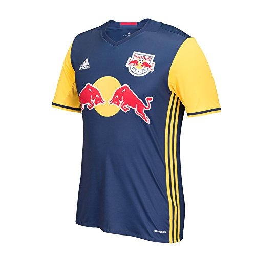 MLS New York Red Bulls Men's Replica Short Sleeve Team Jersey, Dark Blue, Small