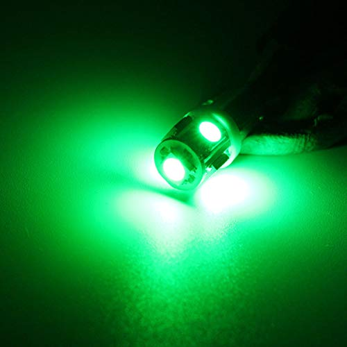 T10 BA9S T4W W5W LED indicador LED bombilla luz Luz de luz Luz de Luz de Luz de Luz 5 Colores 12V Hudson Studio (Color : Green)