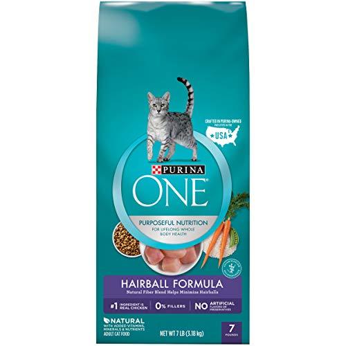 Purina ONE Natural Dry Cat Food, Hairball Formula - 7 lb. Bag
