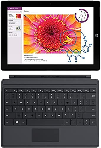 Microsoft Surface Pro 3 Tablet (12-inch, 64 GB, Intel Core i3, Windows 10) + Microsoft Surface Type Cover (Renewed)