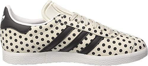adidas adidas Damen Gazelle W Fitnessschuhe, Weiß (Balcri/Negbás/Ftwbla 000), 43 1/3 EU