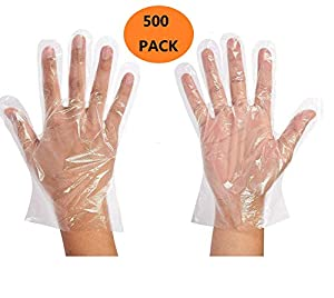 Disposable Food Prep Gloves - Food grade Disposable Gloves (500 PCS) (A)