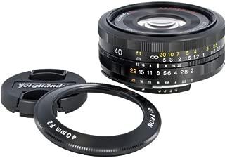 Voigtlander Ultron 40mm f/2 SL-II Aspherical Compact Pancake Manual Focus Normal Lens for Canon EOS Film & Digital Cameras