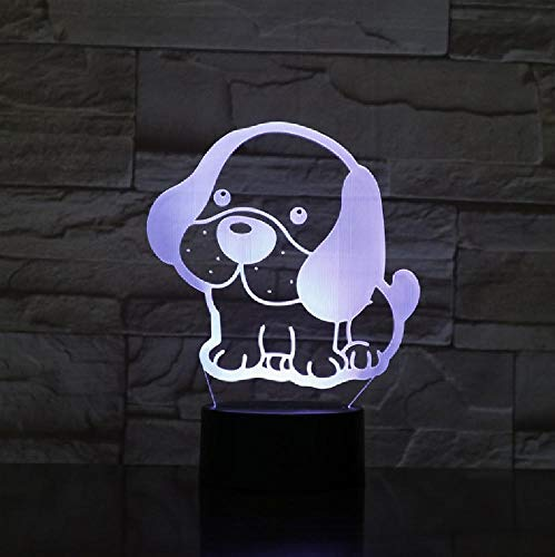 Cute Dog Puppy Big Ear Led 3D Night Light 7 Colors Changing Sleeping Table Desk Lampe Lamp Bedroom Lava Lamp