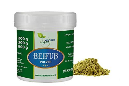 VITAIDEAL VEGAN® Beifuß Pulver 300g. inklusive Messlöffel, rein natürliches Pulver ohne Zusatzstoffe.