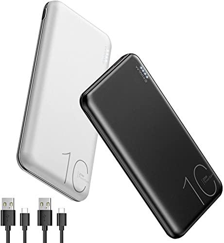 2 Pack Power bank 10000mAh,Caricatore Portatile USB C 20W PD & QC 3.0 Carica Rapida, Power Bank Alta Capacità Per iPhone, Samsung, Huawei, Xiaomi e Altri