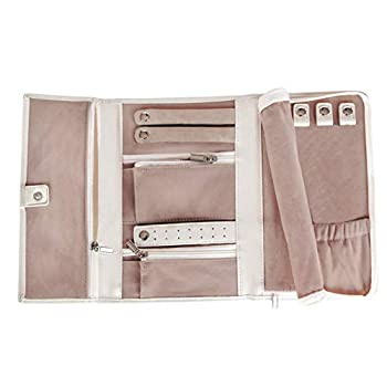 Vegan Leather Travel Jewelry Case