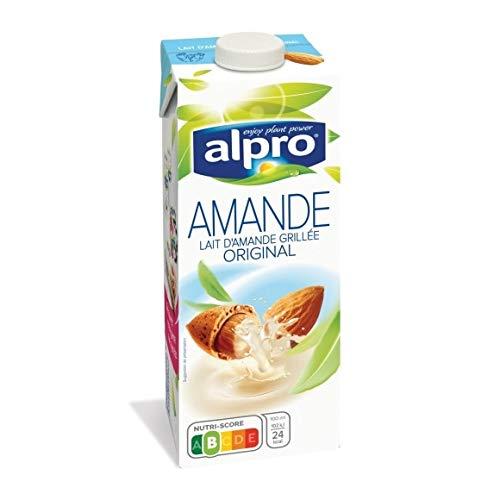Alpro - Lait D'Amande Original Avec Calcium & Vitamines Ajoutés - 1L - Lot De 4 - Prix Du Lot - Livraison Rapide En France Métropolitaine Sous 3 Jours Ouverts