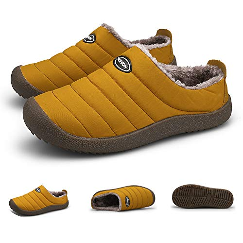 Zapatillas de terciopelo Plus para hombre invierno Forro de felpa impermeable Mantiene...