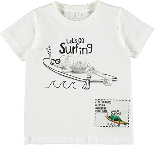 NAME IT Kinder T - Shirt Sonnen Wechselmotiv nkmZENOS (98, Chamäleon)